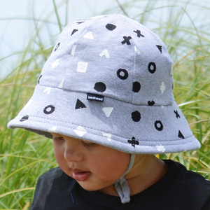 Boys Baby Bucket Hat 'Shapes' Print
