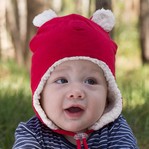 Teddy Fleecy Winter Beanie - Red