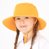 School Broadbrim Hat with Strap - Gold