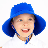School Bucket Hat with Strap - Royal Blue