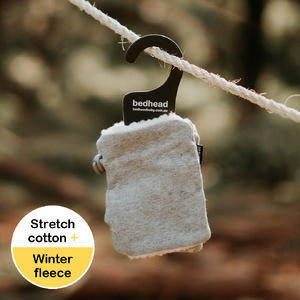 Fleecy Fingerless Kids Winter Mittens - Grey Marle