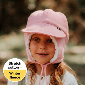 Fleecy Legionnaire Winter Hat - Baby Pink Marle