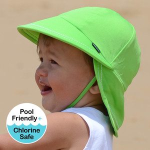 Boys Legionnaire UPF50+ Swim Hat - Lime