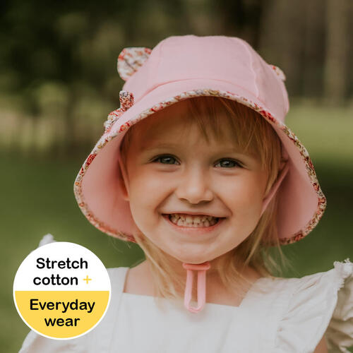 Bedhead Hats Baby Bucket Hat With Strap Blush