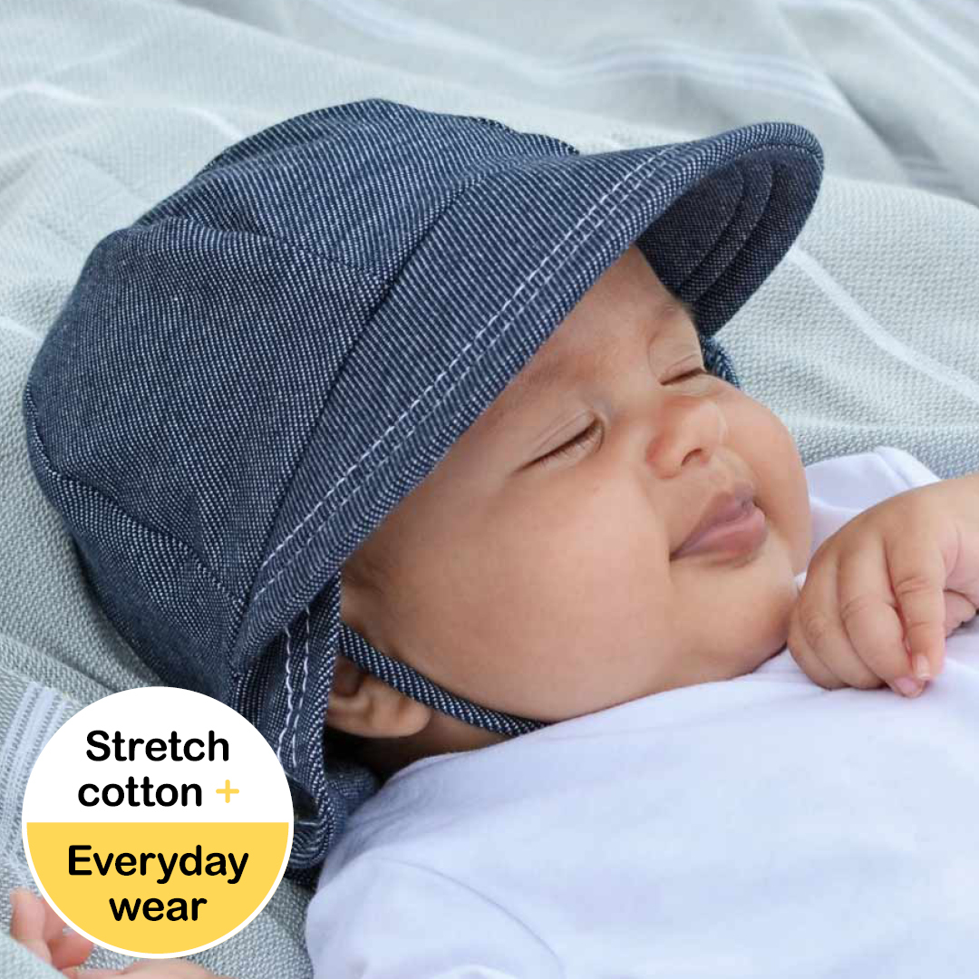 Bedhead Kids Sun Hats - Legionnaire Hat with Strap for baby girls & boys  UPF 50+ Sun Protection