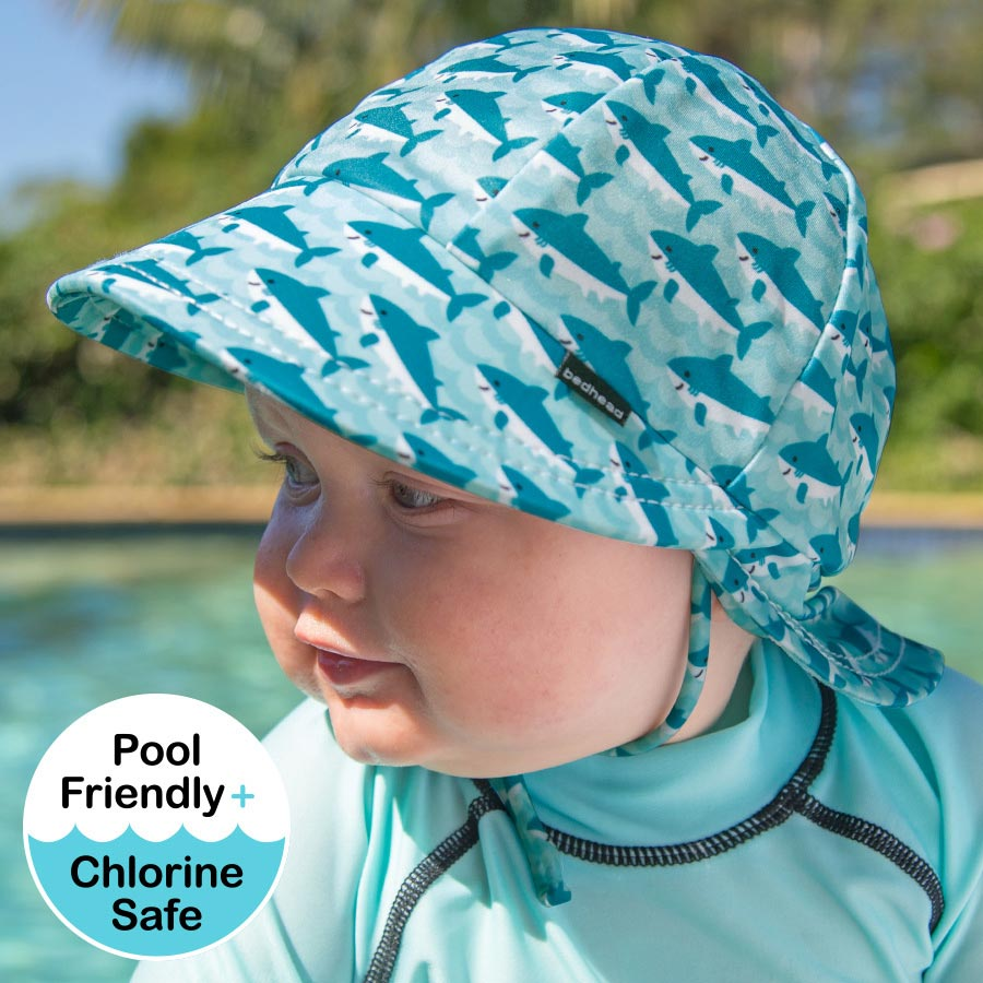 44a7ffabba1 Boys Beach Legionnaire Hat UPF50+ Shark