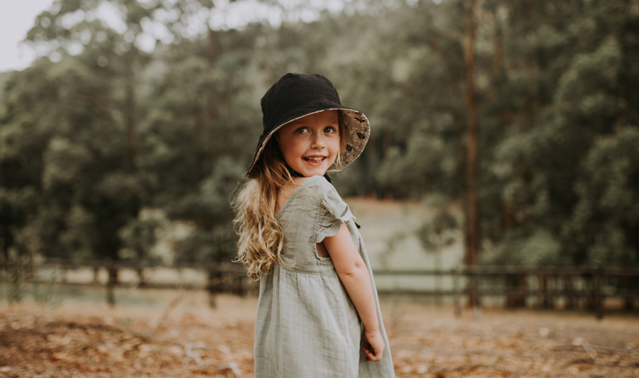 reversible eco-friendly linen hats for kids and women