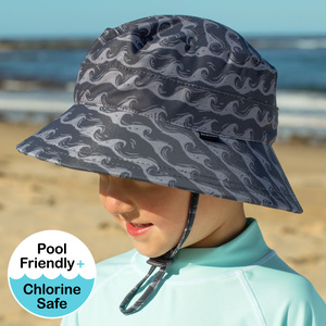 Boys Beach Hat  Bucket UPF50+ Breaker Slate