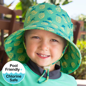 Kids Beach Hat  Bucket UPF50+ Pineapple