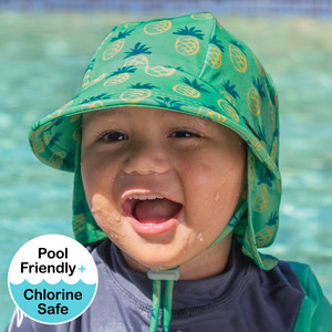 Kids Beach Legionnaire Hat UPF50+ Pineapple