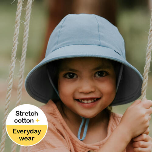 Ponytail Bucket Sun Hat - Chambray