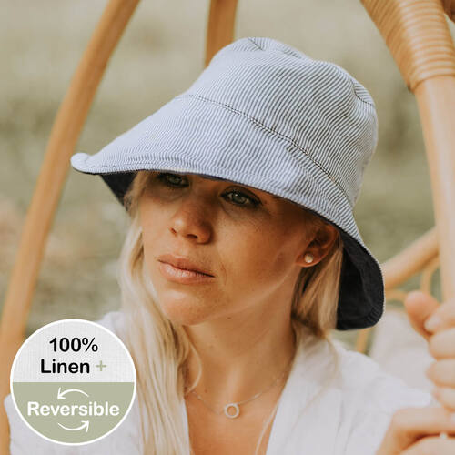Ladies Reversible Sun Hat - Charlie / Indigo