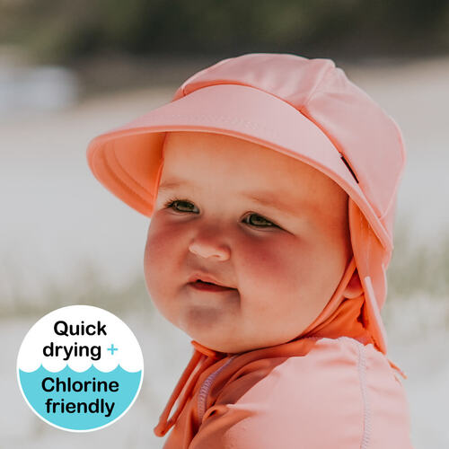 Beach Legionnaire Flap Hat - Peach
